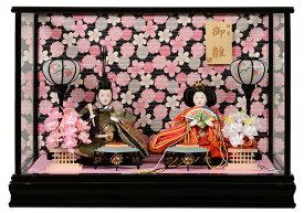 【雛人形】【雛ケース】さやか三五親王ケース:美光作:黒塗ケース【ひなケース】【ひな人形】