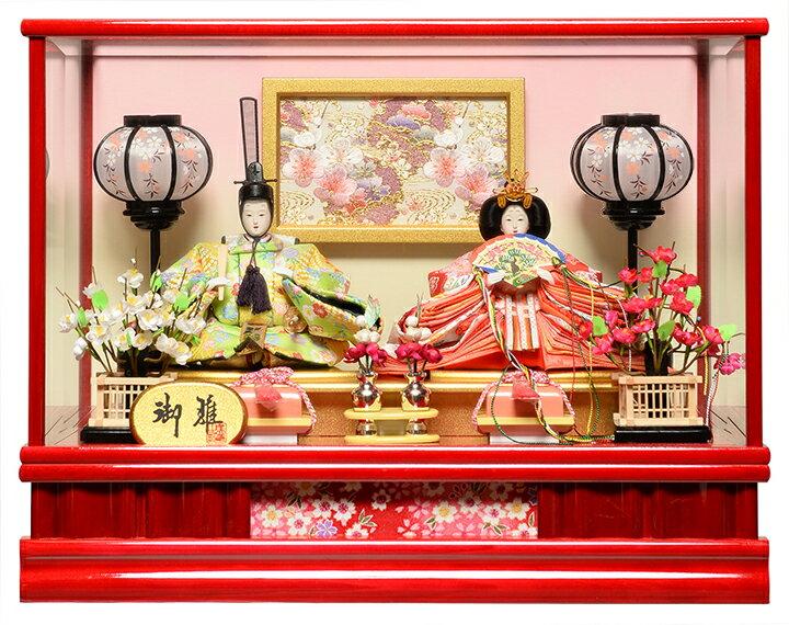 【ひなケース】芥子親王飾:伏見屋監修 「オルゴール付きカットガラスケース」【雛人形】【ひな人形】