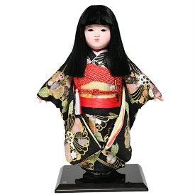 【市松人形】12号市松人形:金彩衣裳(オカッパ):京華作【ひな人形】【浮世人形】