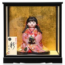【雛人形】【ひな人形】【市松人形】6号座り木目込市松人形:別織京都西陣織:芳俊作:ケース入り【木目込市松人形】【浮世人形】