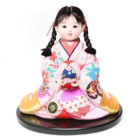 【雛人形】【ひな人形】【市松人形】6号座り木目込市松人形:京都西陣織:芳俊作【木目込市松人形】【浮世人形】