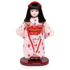 【ひな人形】【市松人形】八寸市松人形:京友禅衣装:松寿作【浮世人形】