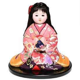 【雛人形】【ひな人形】【市松人形】6号彩座り木目込市松人形:別織京都西陣織:芳俊作【木目込市松人形】【浮世人形】
