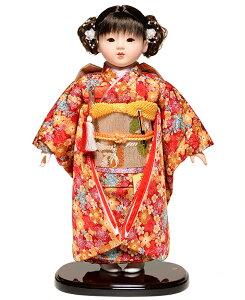 【市松人形】市松人形 13号市松人形:梅に桜総柄衣裳:公司作【ひな人形】【浮世人形】