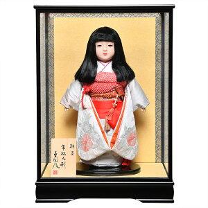 【市松人形】【雛人形】13号市松京友禅桜柄衣裳:草園作:ケース入【ひな人形】【浮世人形】