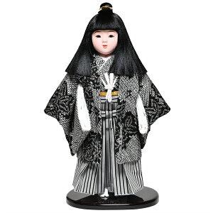 【ひな人形】【市松人形】13号市松人形:総絞羽織袴姿:敏光作【浮世人形】