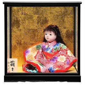 【ひな人形】【市松人形】8号座市松 萌々【金彩衣装】:敏光作:ケース入り【浮世人形】
