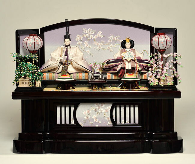 【ひな人形】 京九番親王飾:優美雛:平安翠泉作【雛人形】【親王飾】