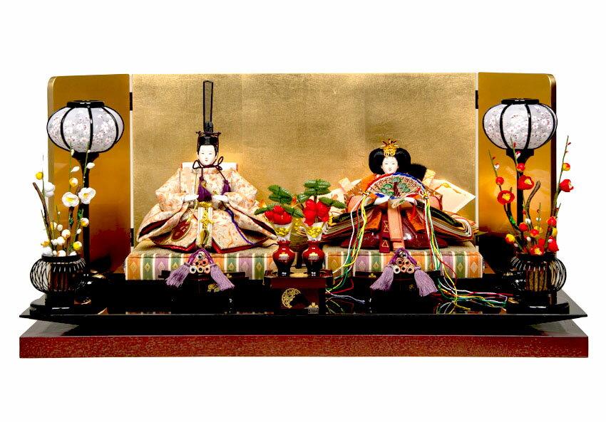 【ひな人形】三五親王飾:雛:平安翠泉作【雛人形】【親王飾】