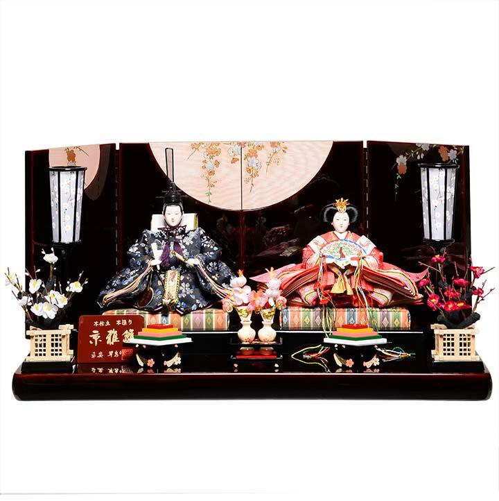 【雛人形】【親王平飾】京三五親王飾:愛桜雛:平安翠泉【親王飾】【ひな人形】