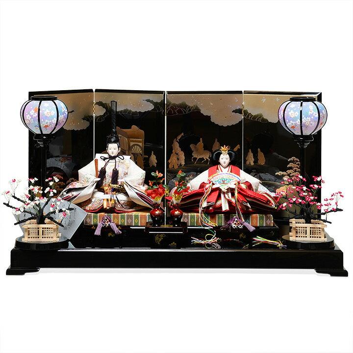 【雛人形】【平飾り】【親王飾】京三五親王飾:平安翠泉作【ひな人形】