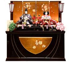 【雛人形収納飾】京三五親王飾:彩春雛:平安翠泉作【雛人形】【親王飾】