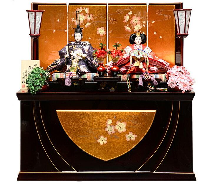 【雛人形収納飾】京三五親王飾:春華雛:平安翠泉作【雛人形】【親王飾】
