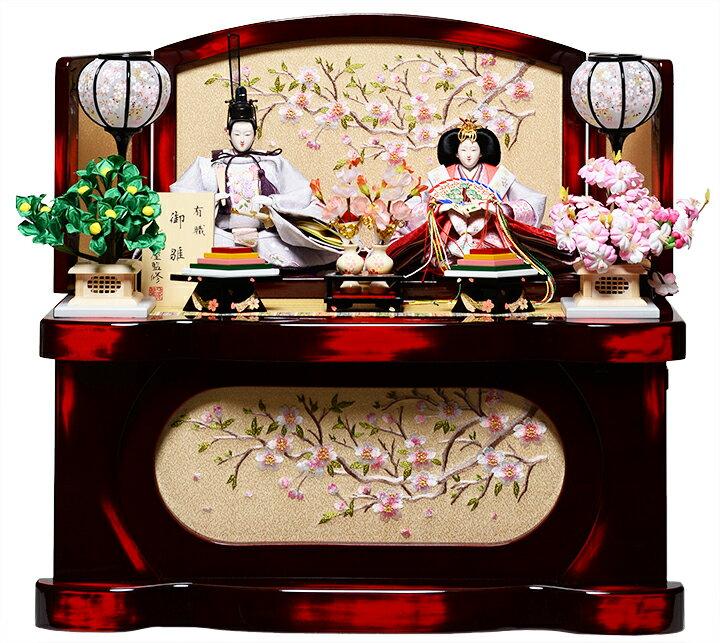 【雛人形収納飾】芥子親王飾:桜月雛:伏見屋監修【雛人形】【親王飾】【ひな人形】【コンパクト】