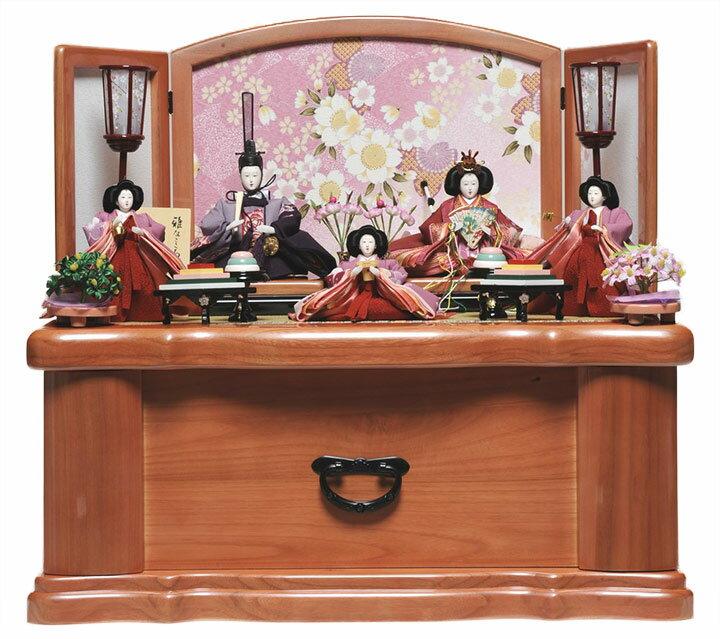 【雛人形収納飾】 収納飾芥子親王柳官女:遙華雛:伏見屋監修【雛人形】【親王飾】