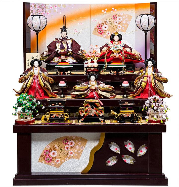 【雛人形収納三段飾】大三五親王芥子官女官女:咲希雛:伏見屋監修【雛人形】