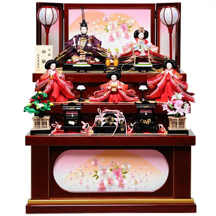 【雛人形収納三段飾】小三五親王芥子官女:真尋雛:伏見屋監修【雛人形】
