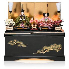【雛人形収納飾】芥子親王飾:紫彩雛:平安翠泉作【雛人形】【親王飾】