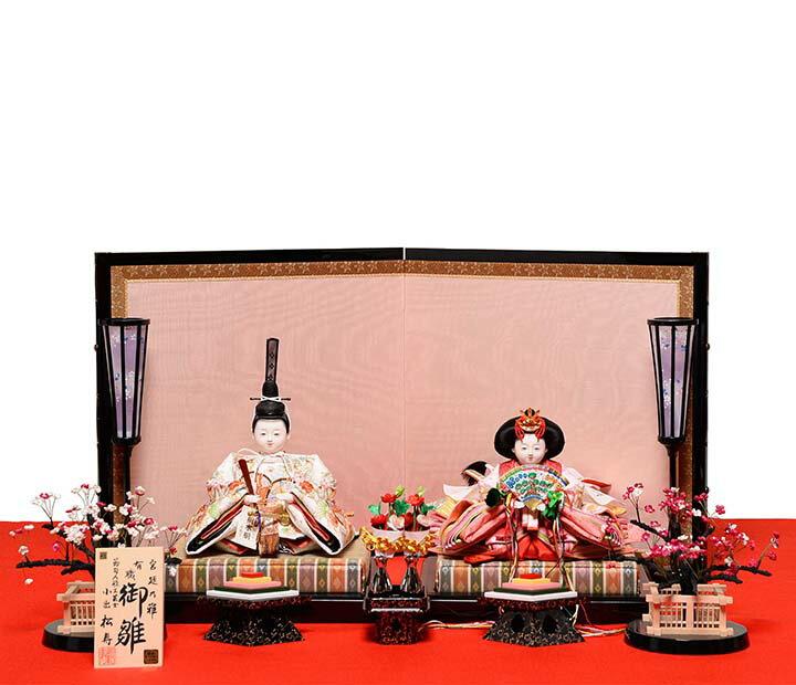【おぼこ雛】【親王飾】京十番親王飾:宮廷乃雛:小出松寿作【雛人形】【ひな人形】