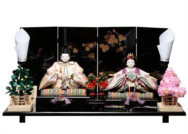 【おぼこ雛】【親王飾】京十番おぼこ雛親王飾:平安優香作【雛人形】【ひな人形】