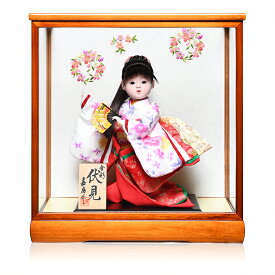 【わらべ人形】【浮世・御所】8号 伏見「扇」:嘉房作【ひな人形】【浮世人形】