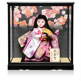 【わらべ人形】【浮世・御所】8号あかり横結び:敏光作【ひな人形】【浮世人形】