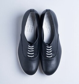 【TRAVEL SHOES by chausser】レザー・レースアップヒールシューズ/TR007