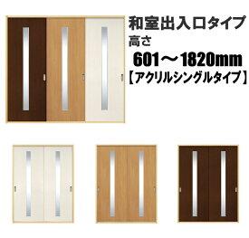洋室建具 ふすまの用のミゾにも!和室出入口 アクリル入りシングルタイプ 引き戸 リフォーム 高さ:601〜1820mm ふすまのミゾ・レールに取付けられます。 【送料無料】