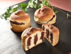 【送料無料】ケーキ屋のガッツリあん食パン。2個入です(直径約12センチ丸型)。食パン生地で自家製つぶ餡をたっぷり巻き込みました!