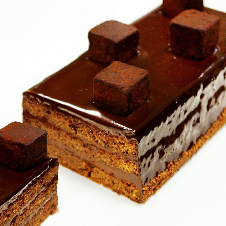【送料無料】 大人の生チョコケーキ 1本 (3〜4名分) バレンタイン ホワイトデー 生チョコ/ケーキ/チョコレートケーキ/誕生日/ギフト