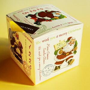 2019Xmas【クリスマスギフト】サンタさんのキューブギフト マカロン 焼き菓子 紅茶のティーパック Macaron