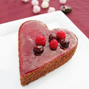 【LOVEスイートハート4号サイズ(2〜3名用)】 ムースショコラケーキ フランボワーズ ラズベリー チョコ ショコラ クーベルチュール 誕生日 プレゼント ギフト