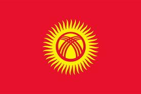 【外国旗】キルギス共和国国旗(アクリル) サイズ:90×135cm【領収書発行】