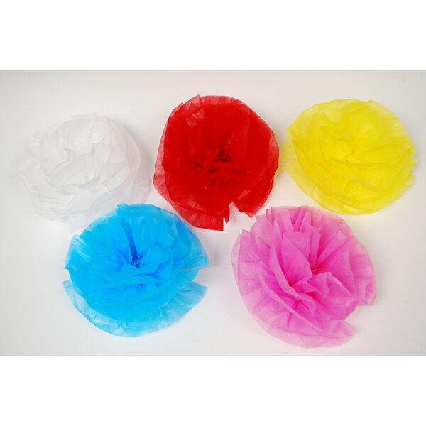 【お祭り用品】紙折り花(京花・さくら紙) 10個1束 針金付き【領収書発行】