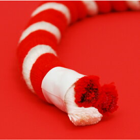 【お祭り用品】紅白紐(ひも)直径15mm 切り売り【領収書発行】
