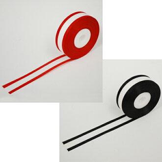 빨강 귀, 검정 귀 리본 테이프 (폭 3.6 cm)