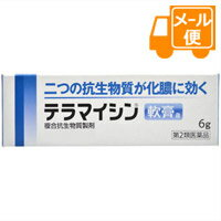 [ネコポスで送料160円]テラマイシン軟膏a6g【第2類医薬品】