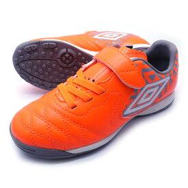 新作 ACR シーティー SB JR WIDE アンブロ UMBRO UU4QJB04OG オレンジ×グレー ジュニア トレーニングシューズ ベルクロ