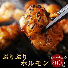 厳選牛ぷりぷりホルモン200g(2人前) 厳選牛シマ腸 トロける極上の脂 焼肉・バーベキューBBQに! もつ焼き ホルモン焼き