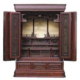 伝統型仏壇 ミニ BO-06 30号 紫檀系 高91×幅66×奥49cm