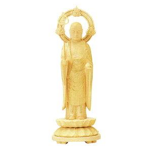 仏像 総柘植 地蔵菩薩 丸台 輪光背 5.0 高235×巾85×奥行85mm