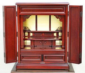 伝統型仏壇 ミニ 笠取 18号 紫檀色 高さ55×巾45×奥行31cm
