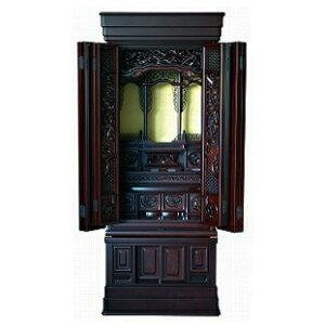 伝統型仏壇 天城 20号 黒檀 高165×幅67×奥58cm