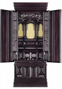 伝統型仏壇 小山 18号 黒檀 高152×幅63×奥55cm