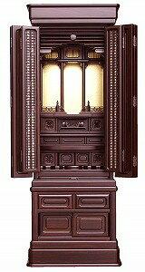 伝統型仏壇 蓼科 16号 黒檀 高145×幅56.5×奥50cm