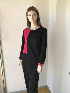 カットソー モンドリアンブロック配色 ブラウス ミセスファッション ミセス ファッション 人気 おしゃれ 通販 専門店40代50代60代の方にお勧め