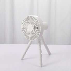 【暑さ対策】ハンディファン 扇風機 手持ち 卓上 三脚 曲がる 5枚羽根 静音 3段階の風量調節 USB充電 モバイルバッテリー 携帯扇風機