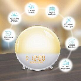 目覚まし時計 ライト FM 子供 かわいい おしゃれ 光 プロジェクター 時計 大音量 光 時間投影ランプ機能付き 女の子 アラーム デジタル 置き時計 授乳ライト ナイトライト 子供部屋 卓上 間接照明 led 寝室 北欧 ベッドサイドランプ