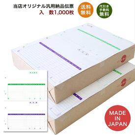 332001t汎用伝票 1,000枚 品番:INO-2001t 送料無料 代引き手数料無料 安心の日本製 オリジナル 伝票 業務用