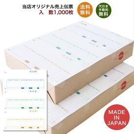 334601伝票 1,000枚 品番:INO-4601 送料無料 代引き手数料無料 安心の日本製 オリジナル 伝票 業務用